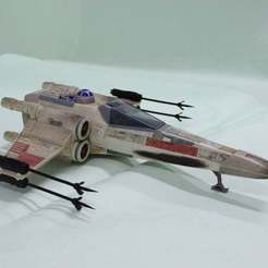 Télécharger modèle 3D gratuit X Wing Fighter  Cannon 1995 Tonka Star Wars Ship, memoretirado