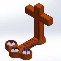 Download free STL file Cross candle holder • Object to 3D print, memoretirado