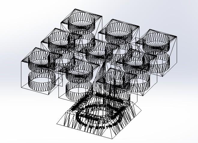"""triangulos.jpg Télécharger fichier STL gratuit Candélabre """"Prometheus"""" Réversible • Modèle imprimable en 3D, memoretirado"""