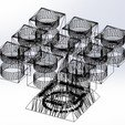 "Download free 3D printer templates Chandelier ""Prometeo"" REversible, memoretirado"