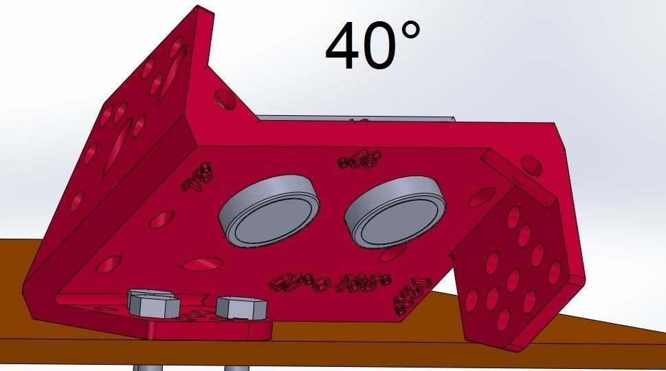 40.jpg Download free STL file Mounting for HC SR04 Multi-Angle (40°,90°,140°,45°,135°,105°,120°, 75° and 60°) • 3D printer object, memoretirado