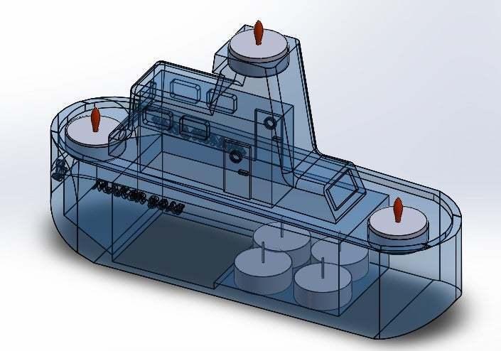 transparencia.jpg Download free STL file Maker Boat Candle Holder • 3D printer template, memoretirado
