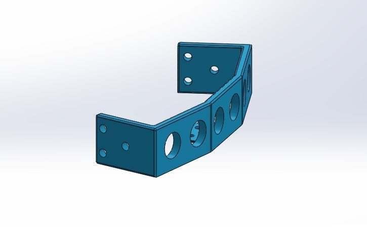montura_3_ping_isometrica.jpg Download free STL file Mounting for 3 HC SR04 15° sensors with 90° terminals • 3D printer design, memoretirado