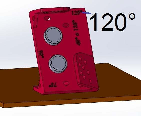 120.jpg Download free STL file Mounting for HC SR04 Multi-Angle (40°,90°,140°,45°,135°,105°,120°, 75° and 60°) • 3D printer object, memoretirado