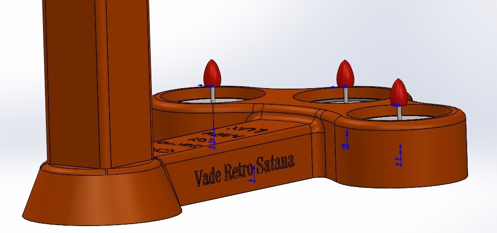 vade.jpg Download free STL file Cross candle holder, three-candlestick candlestick • 3D printing model, memoretirado