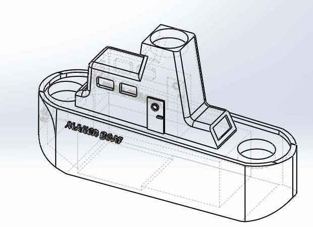 345.jpg Download free STL file Maker Boat Candle Holder • 3D printer template, memoretirado