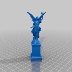 StatueWithFire_reparado.png Télécharger fichier STL gratuit Statue avec feu (réparée) • Plan pour impression 3D, memoretirado