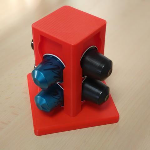 Descargar STL Porta cápsulas Nespresso - Porta cápsulas Nespresso, JoC