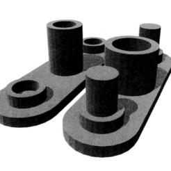 3D print model roller support, stef12