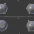 "Download free STL file Wacom Intuos Pro stand ""Three piggies"" • Model to 3D print, 3d20"