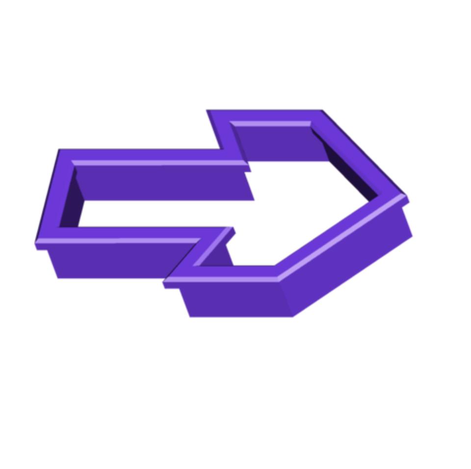 ARROW COOKIE CUTTER.png Download free STL file Arrow Cookie Cutter • 3D print model, 3DBuilder