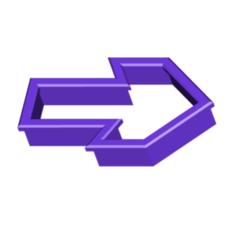 ARROW COOKIE CUTTER.png Télécharger fichier STL gratuit Couteau à biscuits Arrow • Plan imprimable en 3D, 3DBuilder