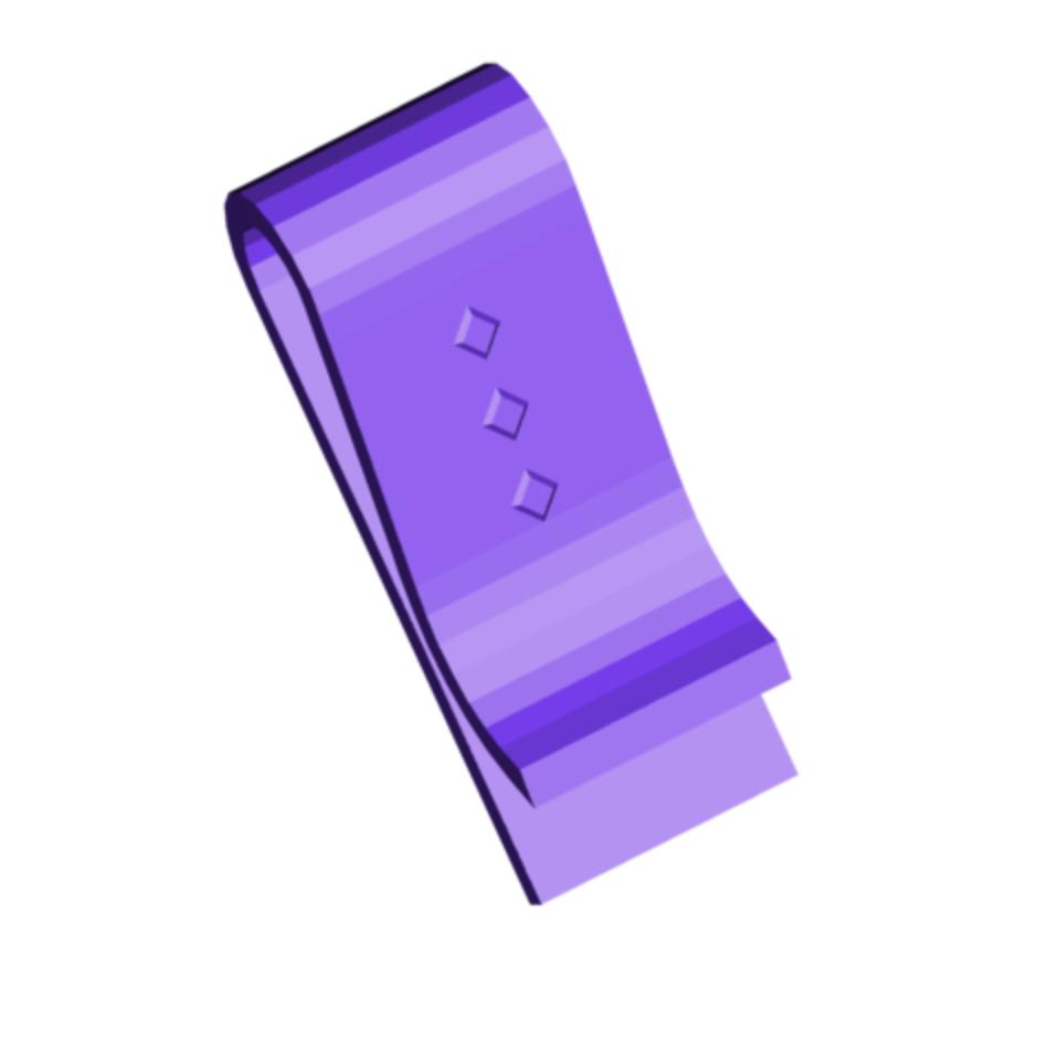 MONEY CLIP.png Download free STL file Money Clip • Model to 3D print, 3DBuilder