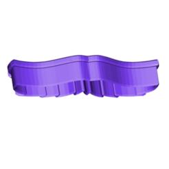 MOUSTACHE 3 COOKIE CUTTER.png Télécharger fichier STL gratuit Moustache 3 Coupe-biscuits Moustache 3 • Design à imprimer en 3D, 3DBuilder