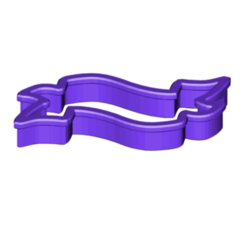BANNER 1 COOKIE CUTTER.png Télécharger fichier STL gratuit Bannière 1 Coupe-biscuits • Plan imprimable en 3D, 3DBuilder