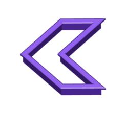 CHEVRON COOKIE CUTTER.png Télécharger fichier STL gratuit Coupe-biscuits Chevron • Design pour impression 3D, 3DBuilder