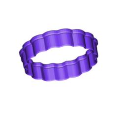 SCALLOPED COOKIE CUTTER.png Télécharger fichier STL gratuit Coupe-biscuits festonnés • Plan à imprimer en 3D, 3DBuilder