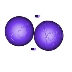 earth.png Télécharger fichier STL gratuit Terre • Modèle imprimable en 3D, 3DBuilder