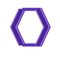 HEXAGON COOKIE CUTTER.png Télécharger fichier STL gratuit Coupe-biscuits Hexagone • Objet imprimable en 3D, 3DBuilder