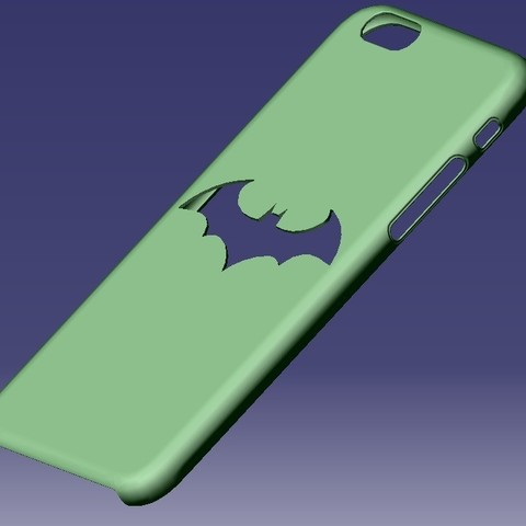 iPhone 6S Batman Case.jpg Download STL file iPhone 6S Batman Case • Object to 3D print, eMBe85
