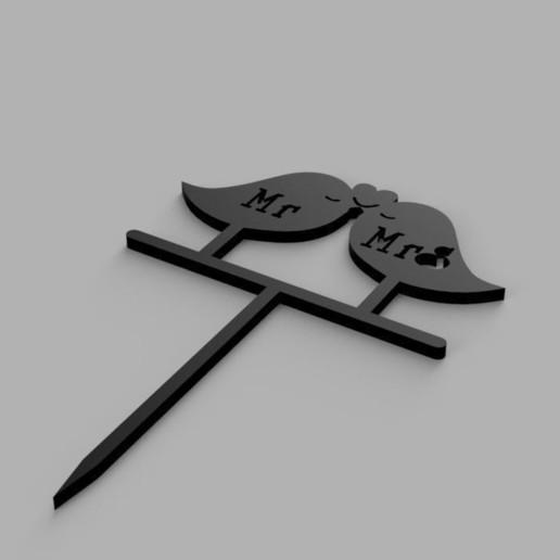 Download 3D printing designs Bird Cake Topper, eMBe85