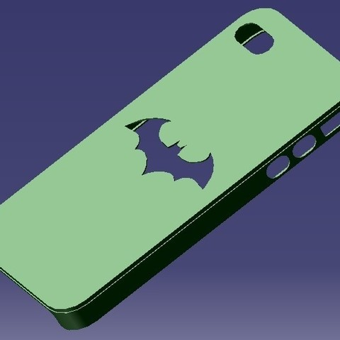 Download STL file iPhone 4S Batman Case • 3D printing object, eMBe85