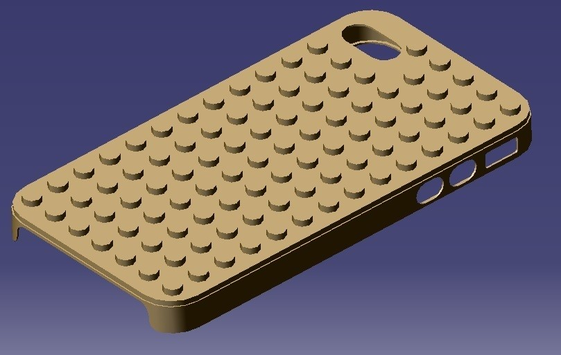 IP4WLC1.jpg Download STL file iPhone 4S Lego Case • 3D printable template, eMBe85