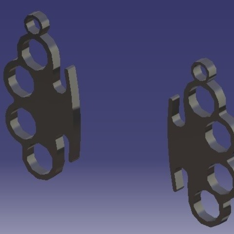 Download STL file Knuckle-Duster - Earrings • Design to 3D print, eMBe85