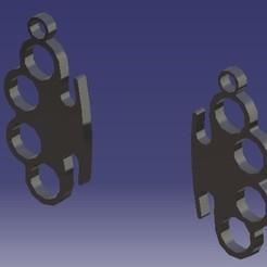 Kolczyki.jpg Télécharger fichier STL Knuckle-Duster - Boucles d'oreilles • Design pour imprimante 3D, eMBe85