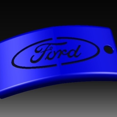 Download STL file Ford Keychain • Object to 3D print, eMBe85