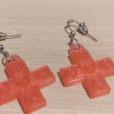 cross2.jpg Download STL file Lego Cross Earrings • Model to 3D print, eMBe85