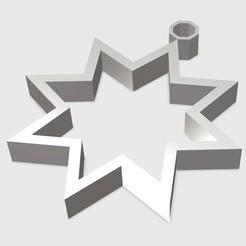 Kolczyk gwiazdka.jpg Télécharger fichier STL Boucles d'oreilles noires • Design à imprimer en 3D, eMBe85