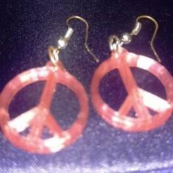 STL file Peace Earrings, eMBe85