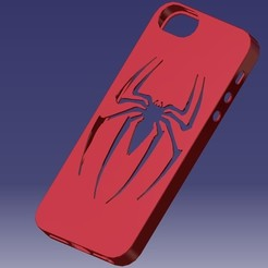 Télécharger fichier impression 3D IPhone 5S Spider-Man Case, eMBe85