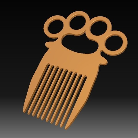 Download STL file Knuckle-duster/Comb • 3D printing object, eMBe85