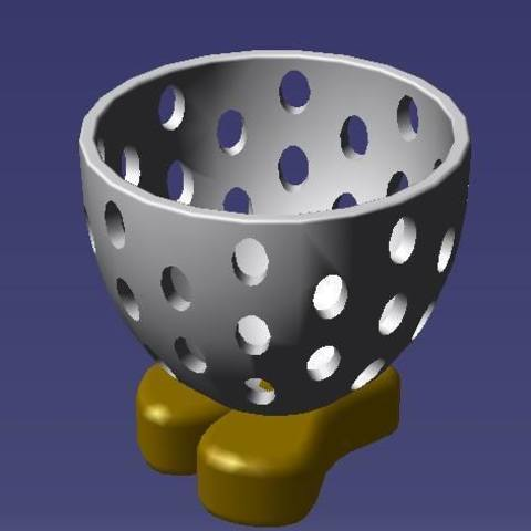 """Download STL file Easter """"glass"""" on the egg • 3D print object, eMBe85"""