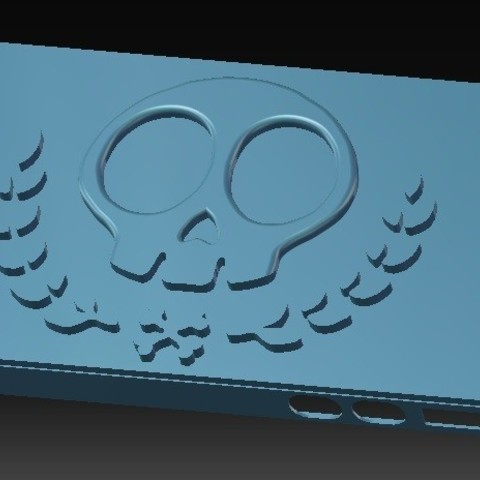 Download STL file iPhone 4S Skull Case vol 2 • 3D printer object, eMBe85