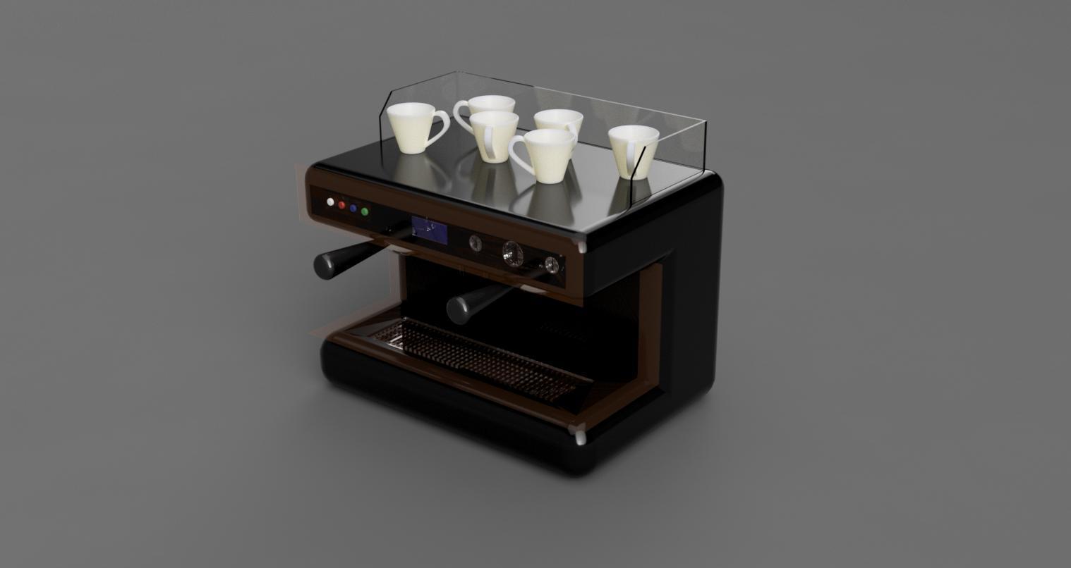 Ekspres v24.jpg Download STL file Coffee machine • 3D printer model, eMBe85