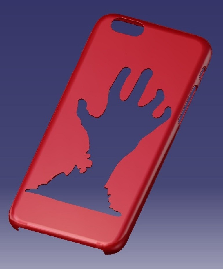Hand Case.jpg Download STL file iPhone 6s Hand Case • 3D print object, eMBe85