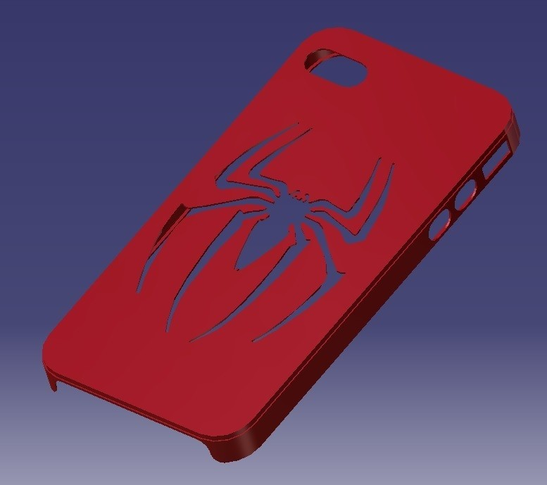iPhone 4S Spider Case.jpg Download STL file iPhone 4S Spider-man Case • 3D printable object, eMBe85