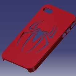 Modelos 3D para imprimir iPhone 4S Spider-man Case, eMBe85