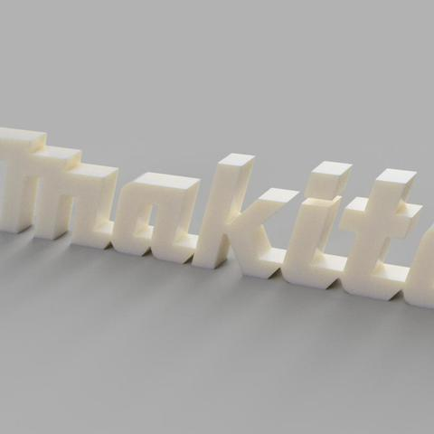 Makita v1.jpg Download STL file Makita sign • Model to 3D print, eMBe85