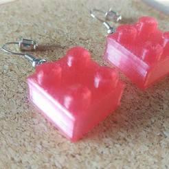 Lego Earrings Small STL file, eMBe85