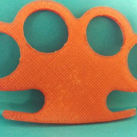 Download STL file Knuckle-Duster • 3D printable template, eMBe85
