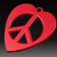 3D printer file Heart-Peace Earrings, eMBe85