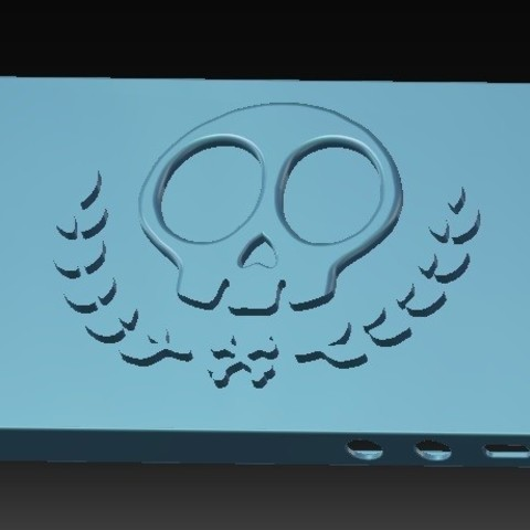 Download STL file iPhone 5S Skull Case vol.2 • 3D printer template, eMBe85