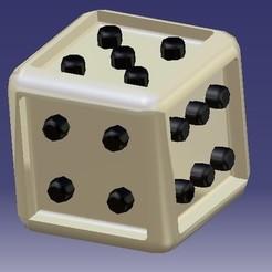 1.jpg Télécharger fichier STL Dice / Cube • Modèle à imprimer en 3D, eMBe85
