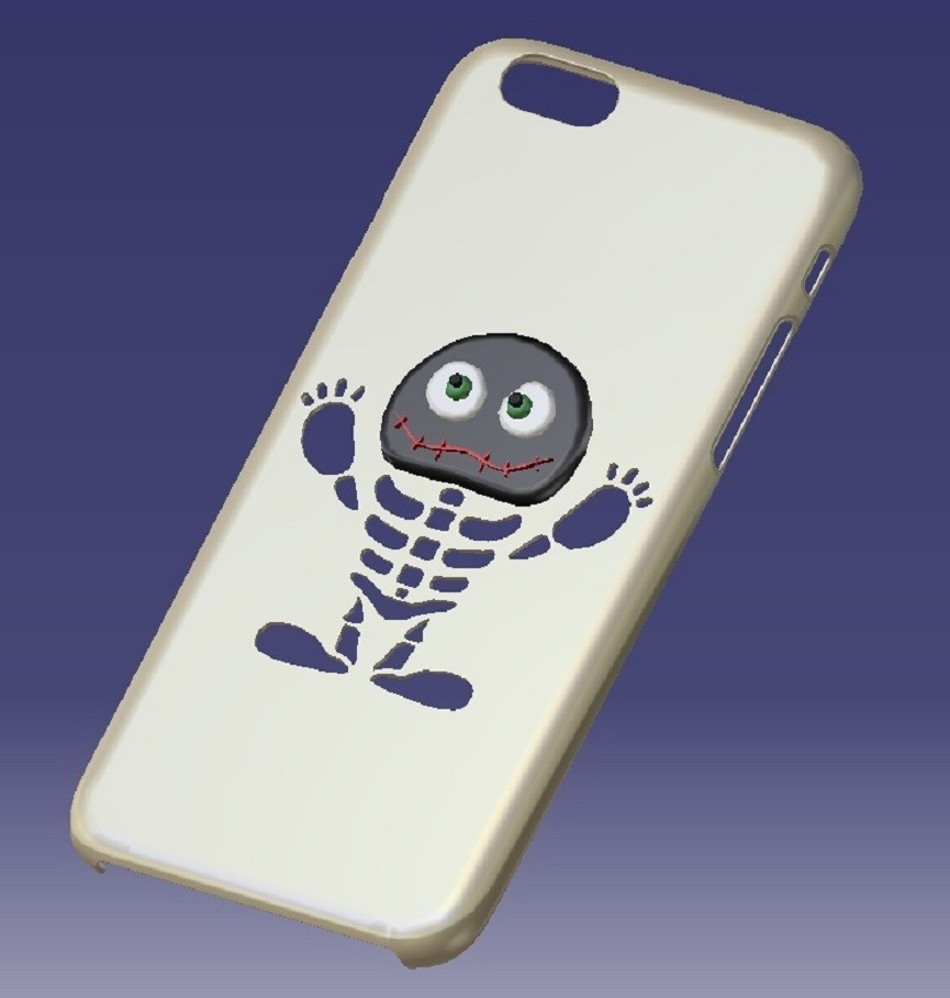 1.jpg Download STL file iPhone 6s Skeletor Case • 3D printing object, eMBe85