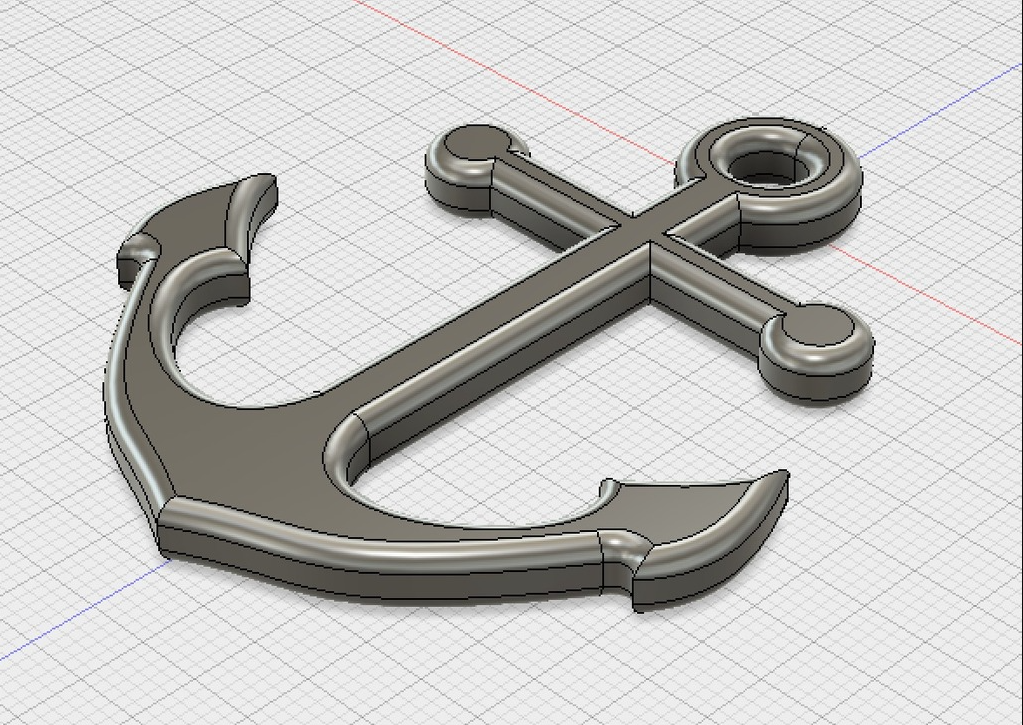 anchor2.png Download free STL file Anchor necklace pendant • 3D print object, gharry67