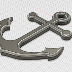 archivos 3d Anchor necklace pendant gratis, gharry67